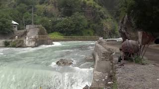 Kundal Shahi Waterfall, Kutton, jagran, neelum Valley Real Sound of River| accident, bridge broken