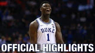 Zion Williamson Official Highlights | Duke Forward