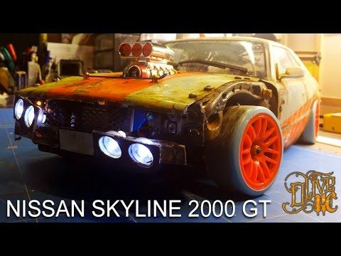 Rc Drift Car Nissan Skyline Gt Youtube