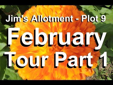 Jim's Allotment - Plot 9 - February Tour Part 1 - Organic Vegetables-Parsnip Propagator