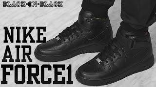 air force 1 mid top black