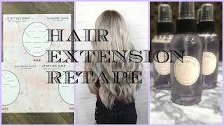 Retaping Hair Extensions: Secrets & Tip's! JZ STYLES HAIR