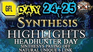 Path of Exile 3.6: SYNTHESIS DAY # 24-25 Highlights HH FOR EVERYONE, MASSIVE BOOTS, RNG