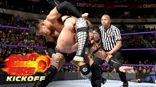 Akira Tozawa vs. Neville - Cruiserweight Championship Match: WWE Great Balls of Fire Kickoff 2017