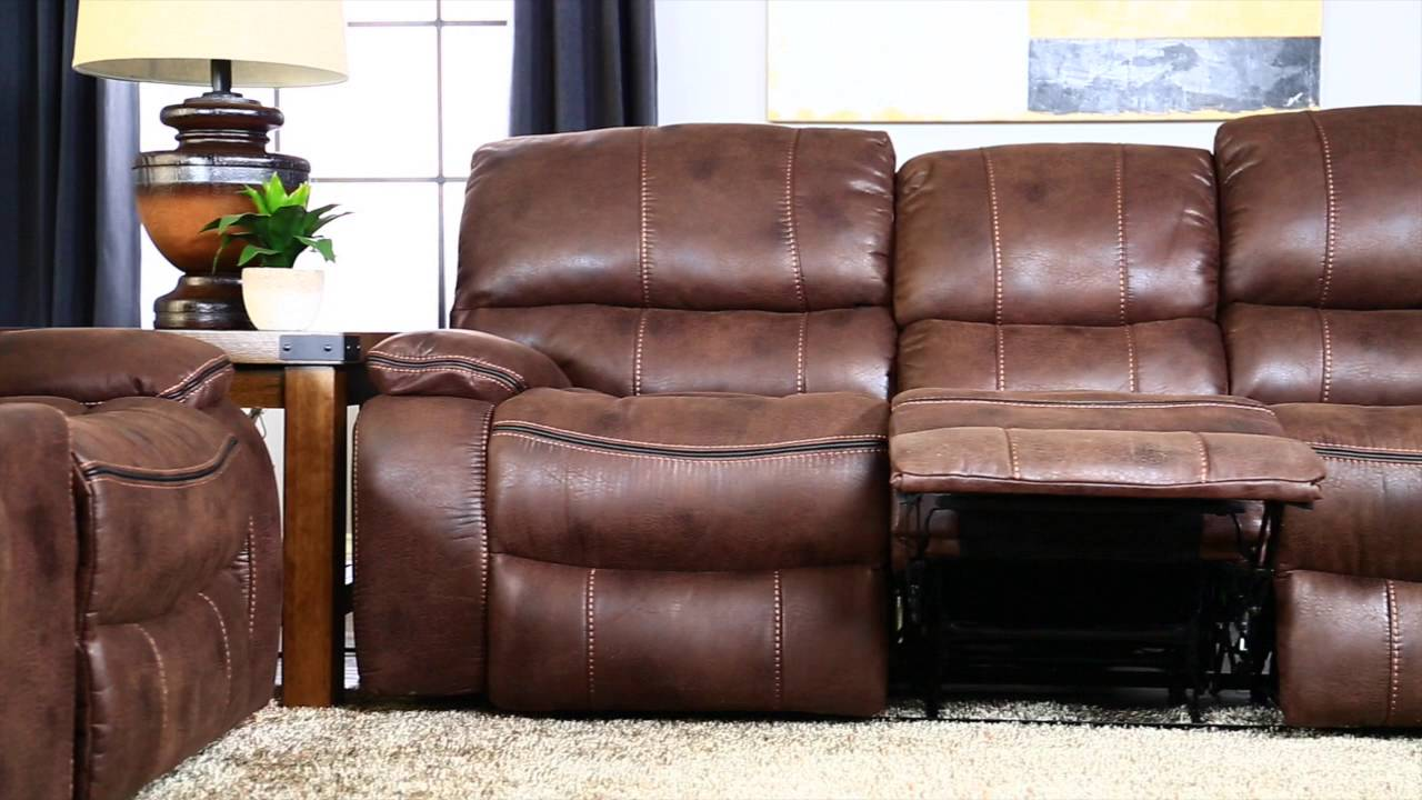 Bon Jeromeu0027s Trio Triple Reclining Sofa   YouTube