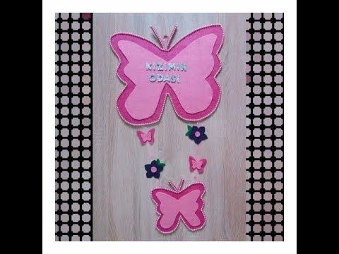 Keçeden Kız Bebek Odası Kapı Süsü Yapımı || DIY Baby Room Decoration || Bebeklerin Günlüğü