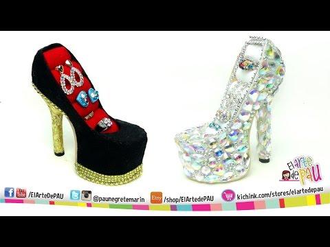 8cb81c9459a0 ❥DIY PRO High Heel Jewelry Holder   Zapato Alhajero PROFESIONAL