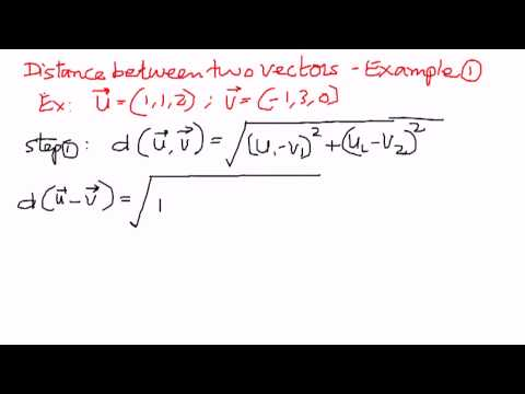 Distance Between Two Vectors Example 1