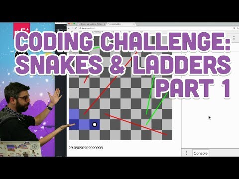 Coding Challenge #91.1: Snakes & Ladders - Part 1