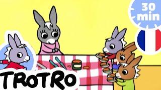 TROTRO - 🍰Trotro invite ses amis pour le goûter 🍰 |NOUVEAUX EPISODES 2020|HD