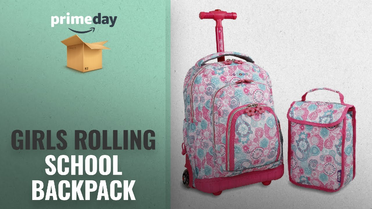 Rolling school backpack for girls ideas world new york lollipop kids rolling  backpack with lunch jpg fb5d0aa983