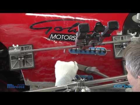 Reparatur der Aluminium Seitenwand an einem Ferrari 458 Challenge