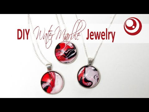 Make Your Own Water Marble Jewellery
