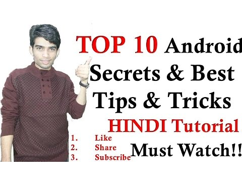 Top 10 (Hindi) Amazing Android SECRETS, TIPS and TRICKS MUST WATCH!!