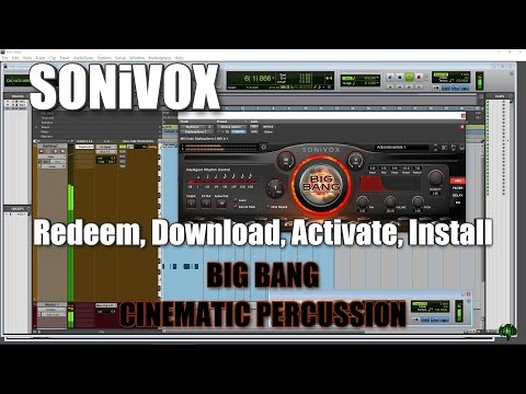 SONiVOX BIG BANG CINEMATIC PERCUSSION - Redeem, Download, Activate, Install