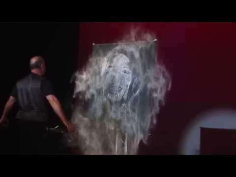 """America's Got Talent"" Speed Painter Robert Channing Paints Nick Cannon"