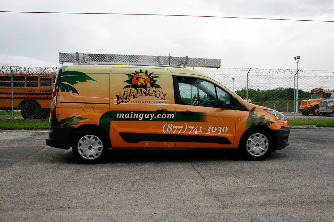Vinyl Vehicle Wrapping New Ford Transit Connect Van Davie Florida