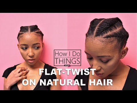Quick & Easy Flat Twist on Short Natural Hair | 4c TWA | How I Do Things Ep. 03