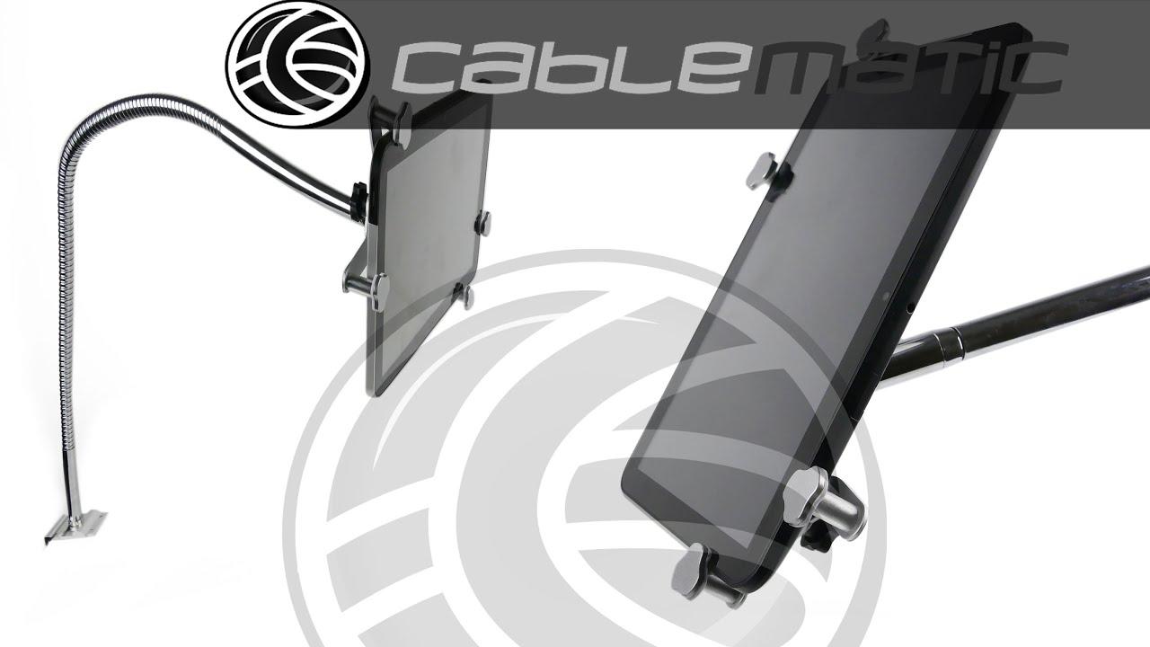 Soporte universal para tablet 7 10 con brazo flexible de 85cm distribuido por cablematic - Soporte para tablet ...
