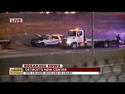 DPD cruiser involved in crash in Detroit