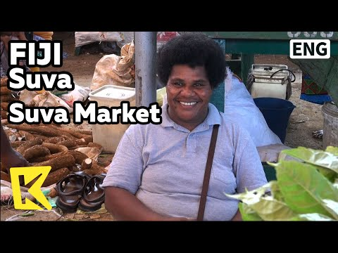 【K】Fiji Travel-Suva[피지 여행-수바]수바시장, 수염 나는 피지의 여인들/Suva/Suva Market/Beard/Dalo