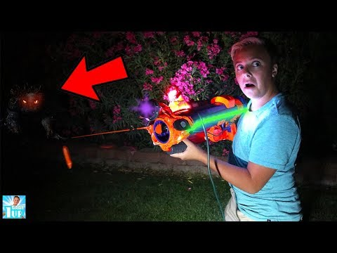 HUNTING MONSTER IN THE POOL With Monster Hunting Blaster! thumbnail