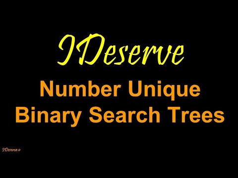 Programming Interview Question: Total number of unique binary search trees with values 1 to n.