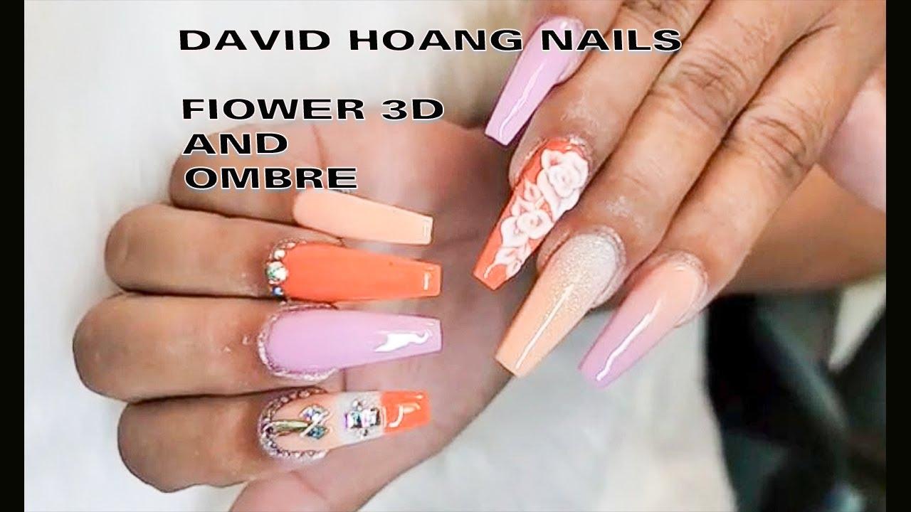 DAVID HOANG NAILS   NAIL OMBRE – ĐẮP HOA 3D   NEW NAIL ART 2020  1010