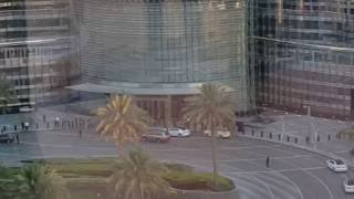 Entrance of Giorgio Armani Hotel Burj Khlalifa Dubai seen from Emaar Square