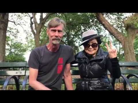 09 26 2016 Yoko Ono Strawberry Fields Central Park, New York City. Priceless!
