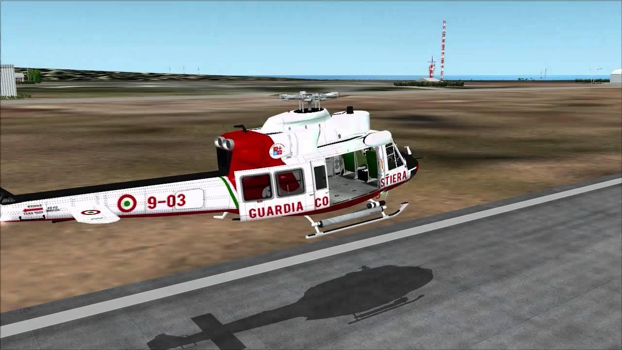 FS2004 Hovercontrol Bell 412 short flight 2