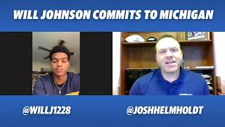 Five-star DB Will Johnson breaks down his commitment to the Wolverines