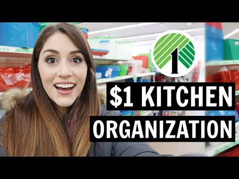 DOLLAR TREE Kitchen Organization | $1 Ideas And Tips