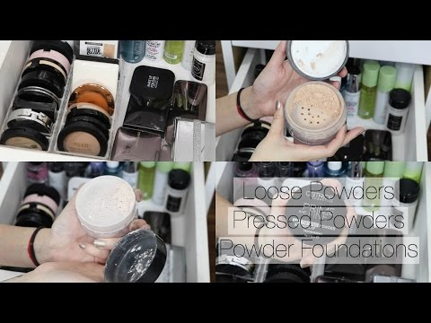 Download Youtube: Makeup Collection + Storage | Face Powders - Drugstore + High End