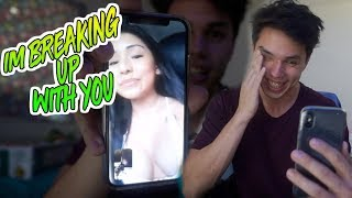 BREAK UP PRANK TEXT ON GIRLFRIEND! (I made her cry)