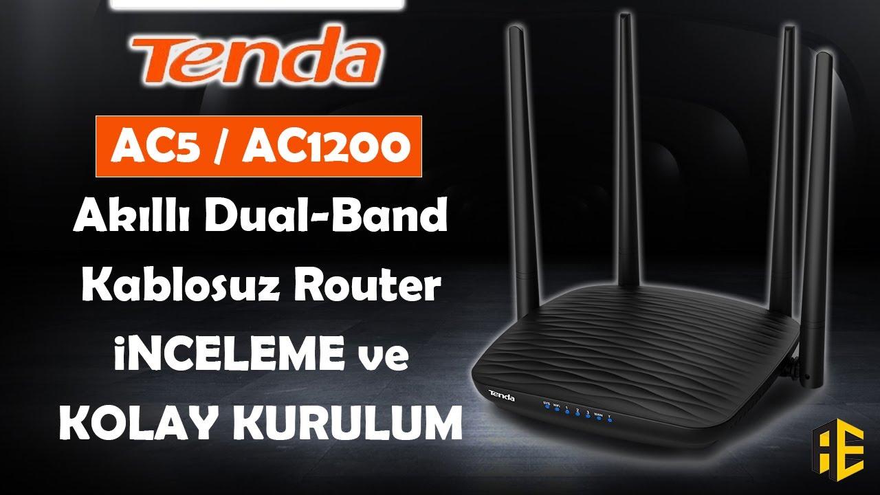Tenda AC5 AC1200 Dual-Band Wi-Fi Router İnceleme ve Kolay Kurulum