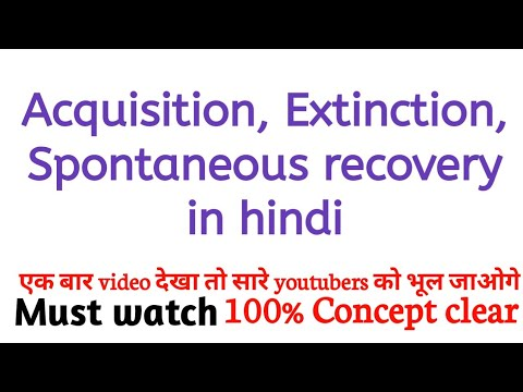 Acquisition, Extinction, Spontaneous recovery in hindi
