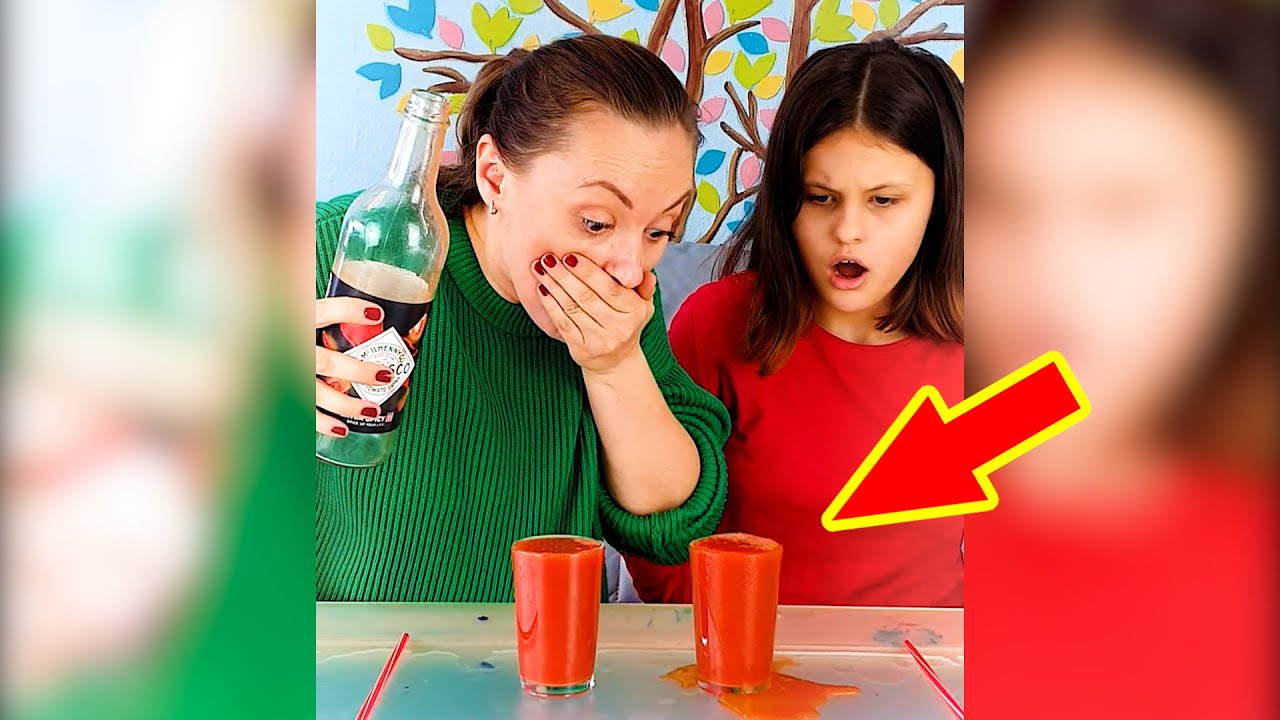 Spicy Drink Challenge 🥵 #FamilyBooms #shorts