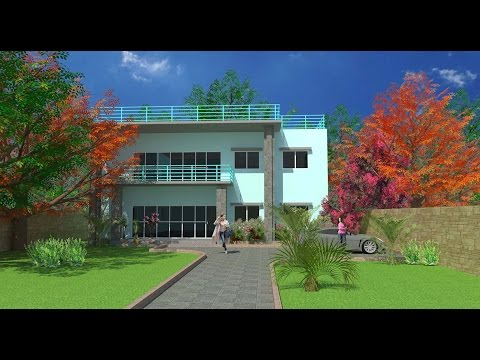 AutoCAD Bangla tutorials 3D House Modeling Part -1 (অটোক্যাড বাংলা)