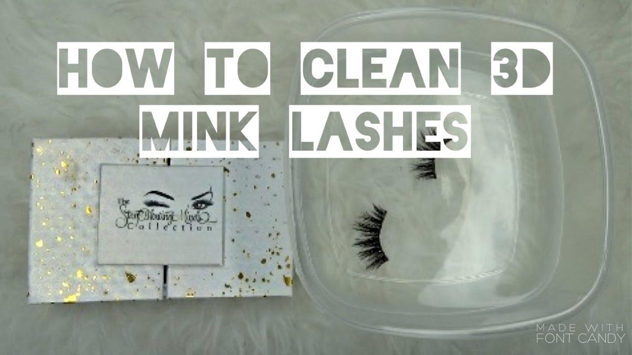 e1de9e864d1 How to Clean 3D Mink Lashes w/ @TheStayblowingMinds Lashes - YouTube