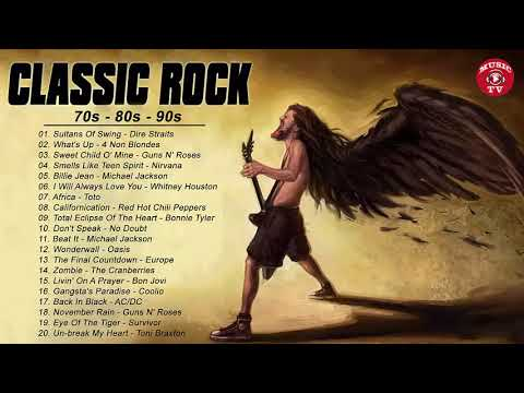 Top 100 Best Classic Rock Songs of All Time - Greatest Classic Rock Songs Playlist 70s 80s 90s