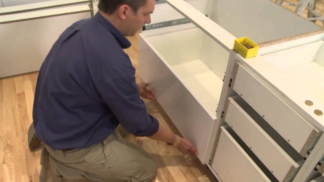 Attaching drawer fronts | kaboodle kitchen