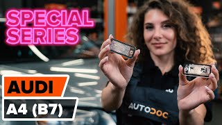 Watch the video guide on AUDI 90 Warning contact brake pad wear replacement