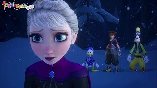 Kingdom Hearts III | Donald Goofy Sora Meet Elsa | Ice Labyrinth | Frozen | Episode 22 | ZigZag