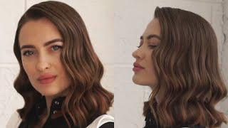 как сделать укладку волнами на средние волосы