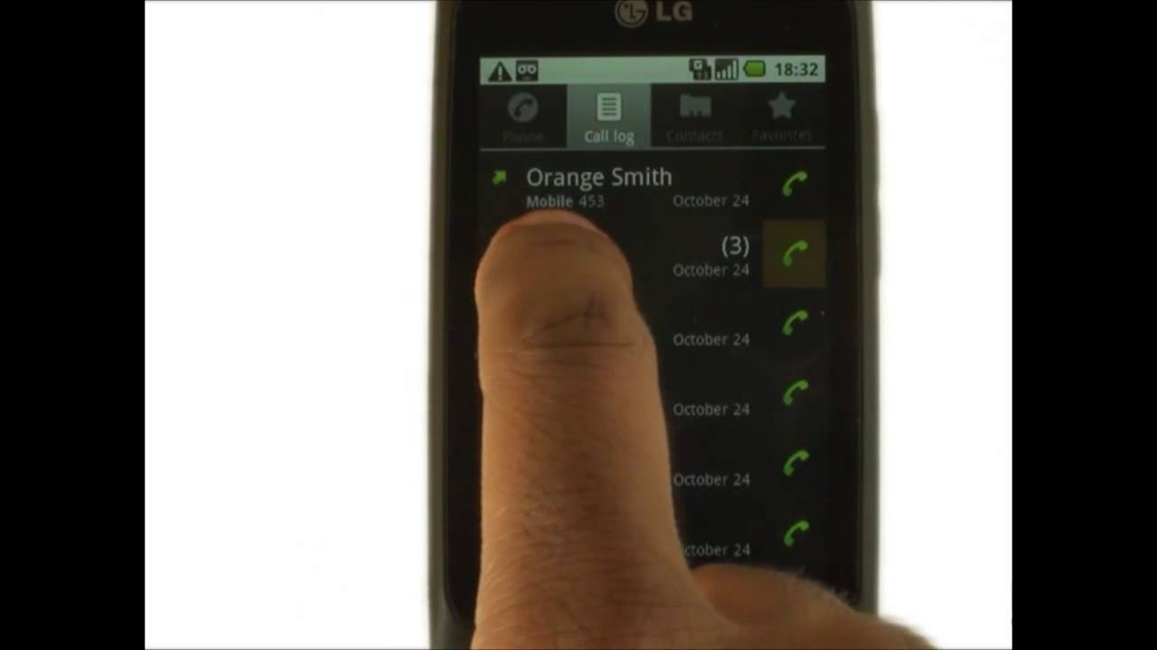 How To View Your Call History On Your Lg Optimus One  The Human Manual