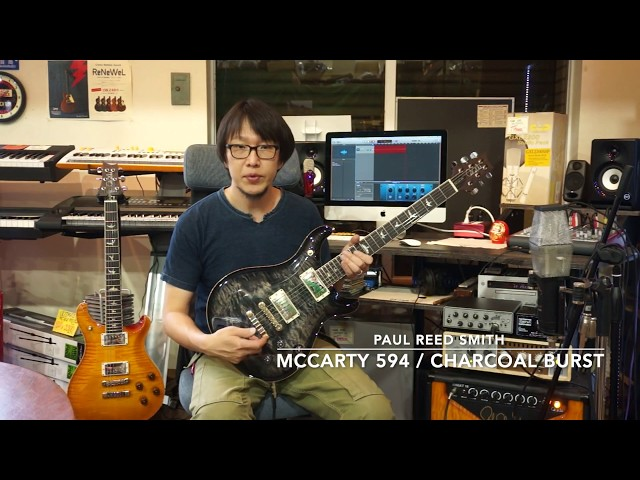 Paul Reed Smith / McCarty 594 QM Charcoal Burst / #250390