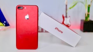 Product RED iPhone 7 Plus Unboxing & First Look!!! (256 GB)