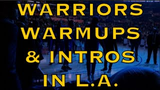 Rituals incl Steph Curry shot-in-the-dark, shaky legs + MORE! from warmups & intros pregame Warriors