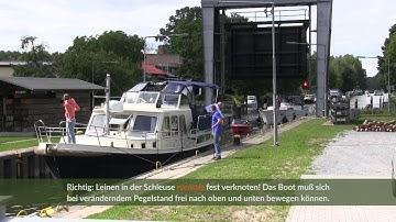 Schleuse Mirow an der Müritz-Havel-Wasserstraße